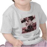 Gato de la motocicleta camisetas
