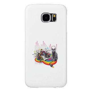 Gato de la música de Pumpin de la placa giratoria Fundas Samsung Galaxy S6