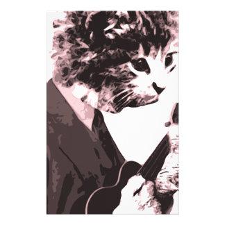 Gato de la música papelería personalizada