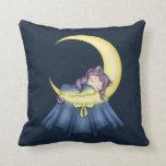 Gato de la nana de Luna que duerme en la luna Almohada