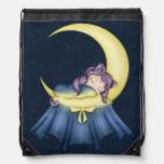 Gato de la nana de Luna que duerme en la luna Mochila