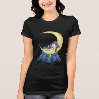 Gato de la nana de Luna que duerme en la luna Camisetas