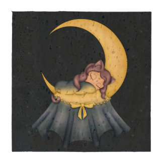 Gato de la nana de Luna que duerme en la luna Posavasos