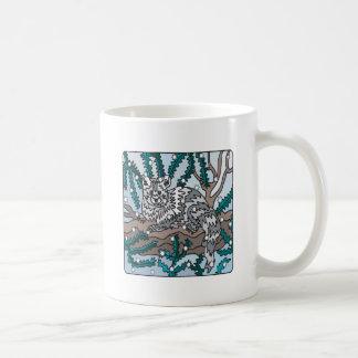 Gato de la nieve tazas de café