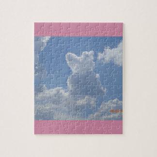 Gato de la nube que mira las nubes… puzzle con fotos