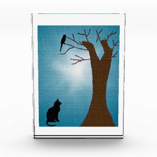 Gato de la observación de pájaros