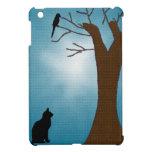 Gato de la observación de pájaros iPad mini carcasas