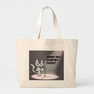 Gato de la poesía bolsas lienzo
