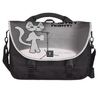Gato de la poesía bolsas de portátil