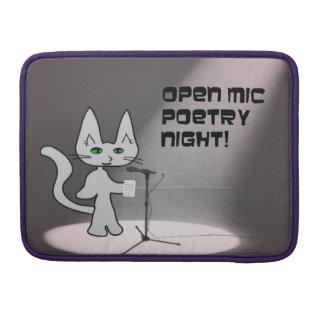 Gato de la poesía fundas macbook pro