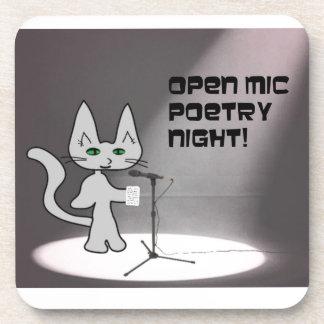 Gato de la poesía posavaso