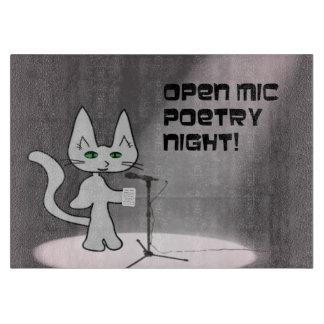 Gato de la poesía tablas para cortar