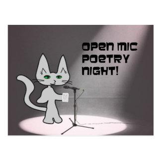 Gato de la poesía tarjeta postal