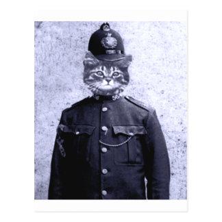 Gato de la policía tarjeta postal