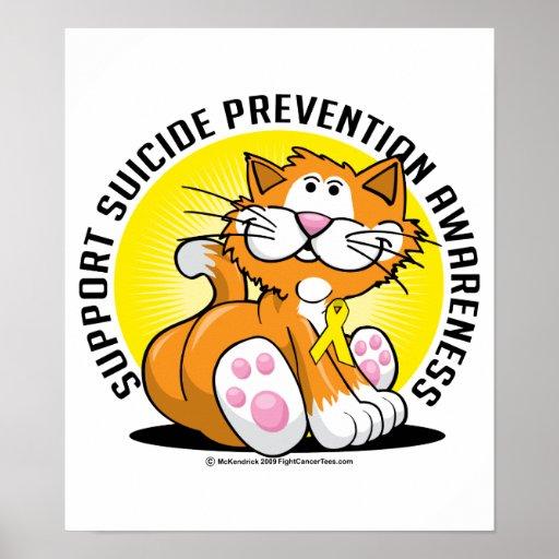 Gato de la prevención del suicidio impresiones
