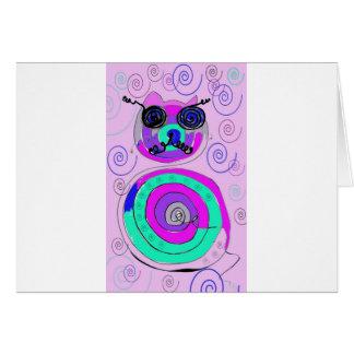 gato de la primavera tarjeta de felicitación