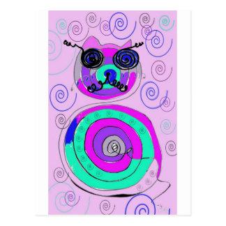 gato de la primavera tarjetas postales