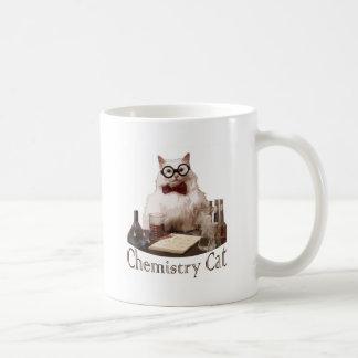 Gato de la química (de reddit de los memes 9gag) taza clásica