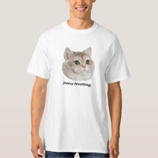 Gato de la respiración pesada polera