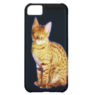 Gato de la sabana de Fractalius Funda Para iPhone 5C