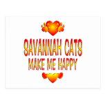 Gato de la sabana tarjeta postal