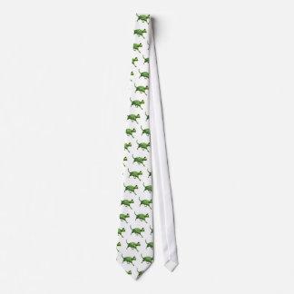 Gato de la sandía corbatas personalizadas