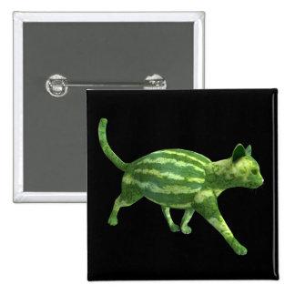 Gato de la sandía chapa cuadrada 5 cm