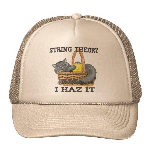 Gato de la teoría de la secuencia de la física gorras