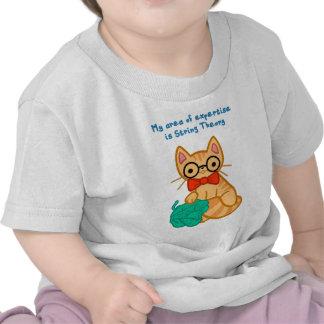 Gato de la teoría de la secuencia camisetas