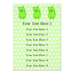 Gato de la verde lima invitación 12,7 x 17,8 cm