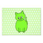 Gato de la verde lima invitación 8,9 x 12,7 cm
