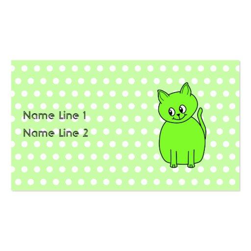 Gato de la verde lima plantilla de tarjeta de visita