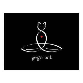 Gato de la yoga - texto de lujo del estilo tarjetas postales