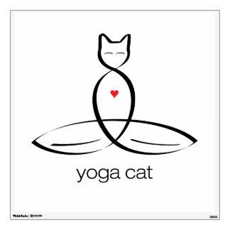 Gato de la yoga - texto regular del estilo