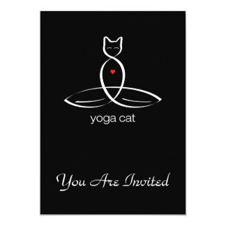 """Gato de la yoga - texto regular del estilo invitación 5"""" x 7"""""""