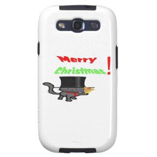 Gato de las Felices Navidad Samsung Galaxy S3 Cárcasas