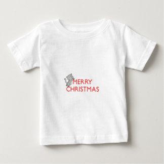Gato de las Felices Navidad Playera