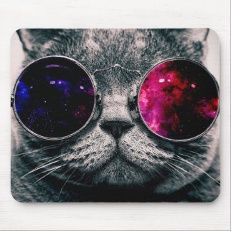 gato de las gafas de sol tapete de ratón