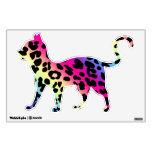 Gato de leopardo de neón del arco iris