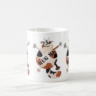 Gato de los desperdicios taza básica blanca