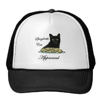 Gato de los espaguetis aprobado gorras