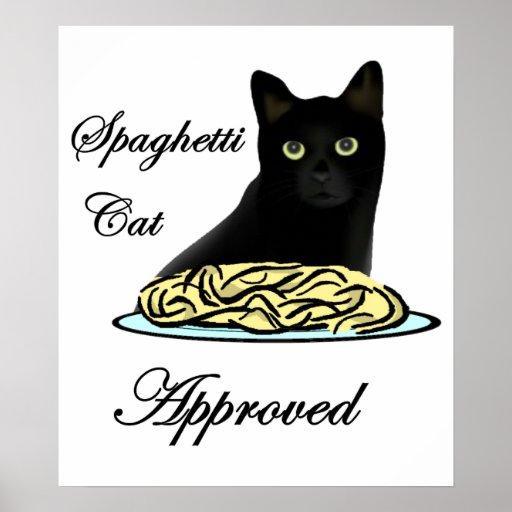 Gato de los espaguetis aprobado posters