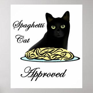 Gato de los espaguetis aprobado póster