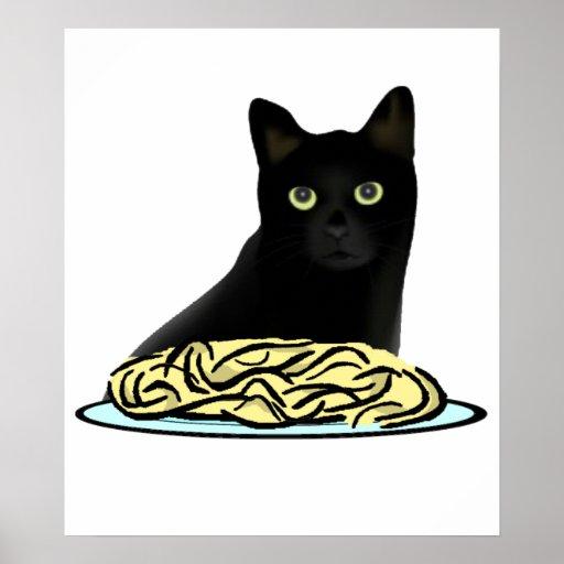 Gato de los espaguetis posters