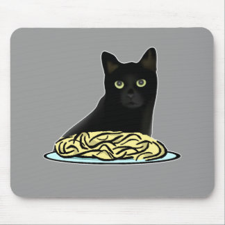 Gato de los espaguetis tapete de raton