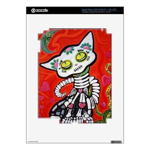 Gato De Los Muertos Pegatinas Skins Para iPad 3