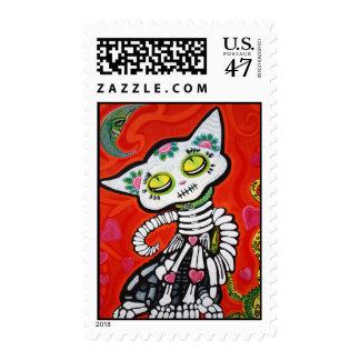 Gato De Los Muertos Postage