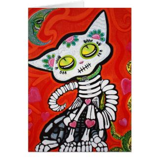 Gato De Los Muertos Felicitaciones