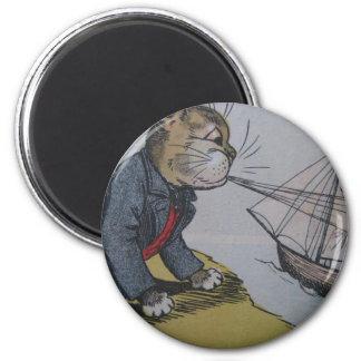 Gato de Louis Wain con ilustraciones del velero Imán Redondo 5 Cm