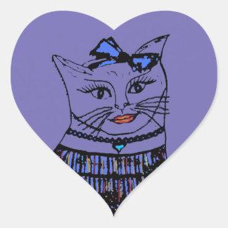 Gato de lujo del gatito con el pegatina del arco
